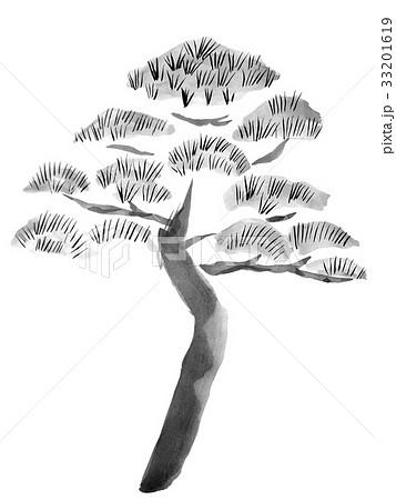 松の水墨画 お祝いのイラストのイラスト素材 33201619 Pixta
