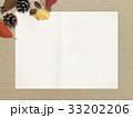 背景-秋-落ち葉-木の実 33202206