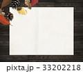 背景-秋-落ち葉-木の実 33202218