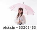 梅雨 傘 雨の写真 33208433