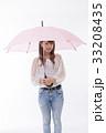 梅雨 傘 雨の写真 33208435