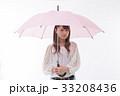 梅雨 傘 雨の写真 33208436