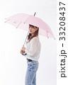 梅雨 傘 雨の写真 33208437