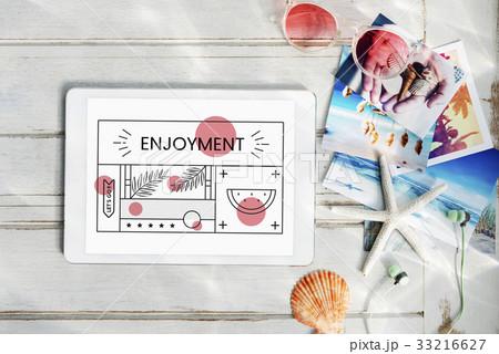Enjoyment Holiday Vacation Chill Conceptの写真素材 [33216627] - PIXTA
