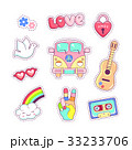 Hippie style badges patches and stickers 33233706