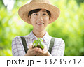 農業  女性 環境 エコ イメージ 33235712