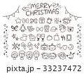 クリスマス セット アイコンのイラスト 33237472
