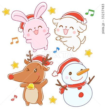 クリスマスの動物のセット 33237483