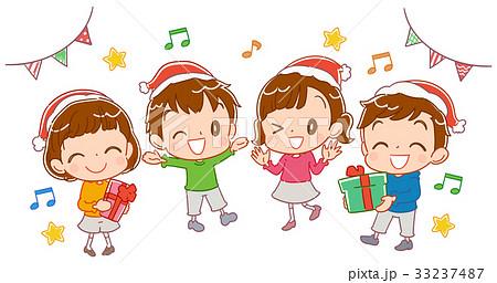 クリスマスパーティーをする子どものイラスト 33237487