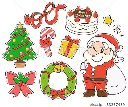 クリスマスのイラスト素材セット 33237489