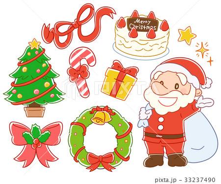 クリスマスのイラスト素材セット 33237490