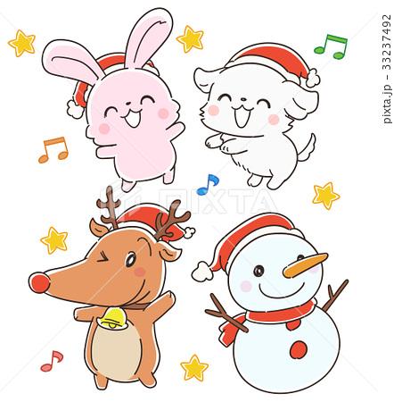 クリスマスの動物のセット 33237492