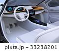運転席 インパネ 電気自動車のイラスト 33238201