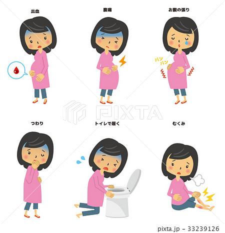 妊婦の症状セット【二頭身・シリーズ】 33239126