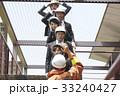 社会人 消防士 避難訓練の写真 33240427