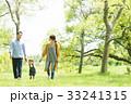 公園で遊ぶ家族 33241315