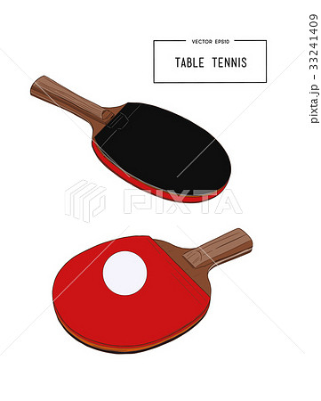 Two rackets table tennis. Illustration vector. 33241409