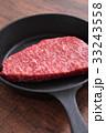 スキレット フライパン 肉の写真 33243558