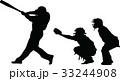 ベースボール 白球 野球のイラスト 33244908