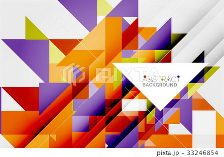 Triangle pattern design backgroundのイラスト素材 [33246854] - PIXTA