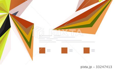 Modern triangle presentation templateのイラスト素材 [33247413] - PIXTA