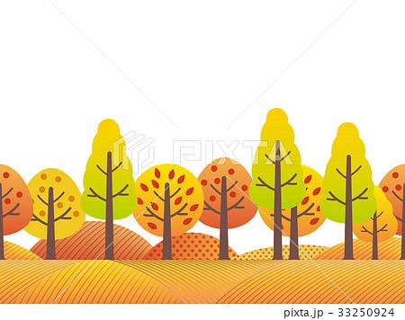 秋の風景 シームレスな田園風景 33250924