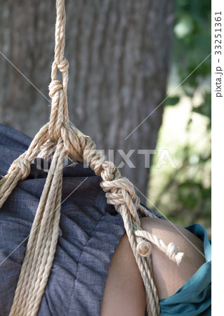 Shibari in nature in summer. Bound young girl.の写真素材 [33251361] - PIXTA