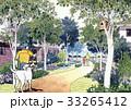 愛犬と散歩する少年 街並み 街並みイメージ 家族 女性 33265412