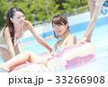 プール リゾート ビキニ 浮き輪 女性 33266908