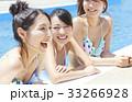プール リゾート ビキニ 女友達  33266928