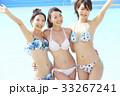 プール リゾート ビキニ 女友達  33267241