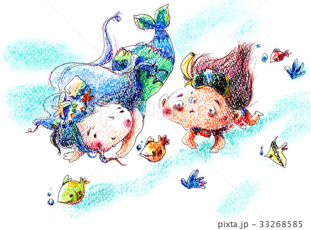 人魚姫と泳ぐ少女 33268585