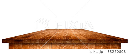Empty wooden table perspective with clipping maskのイラスト素材 [33270808] - PIXTA
