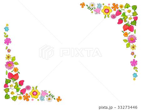 春の花 フレーム2のイラスト素材 33273446 Pixta