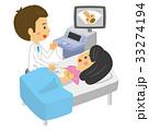 エコー 腹部エコー 妊婦健診のイラスト 33274194