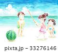 スイカ割り 砂浜 33276146
