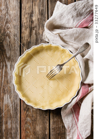 Dough for baking quiche tartの写真素材 [33277649] - PIXTA