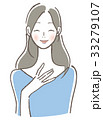 ベクター 笑顔 女性のイラスト 33279107