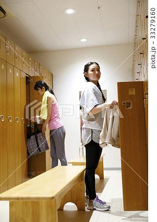 女子ロッカールーム 更衣室の写...