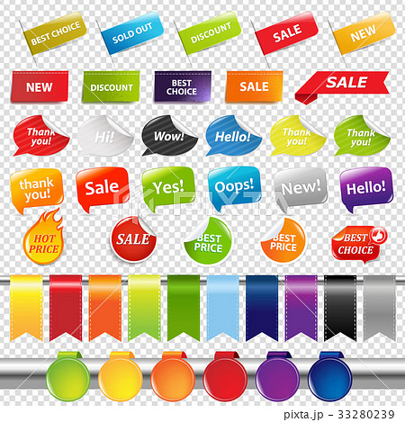 Set Of Color Sale Stickers And Labels 33280239