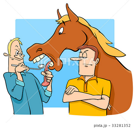 Saying looking a gift horse in the mouth cartoon saying looking a gift horse in the mouth cartoon negle Choice Image