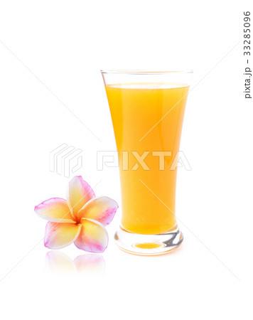 colorful plumeria flower and Orange juice の写真素材 [33285096] - PIXTA