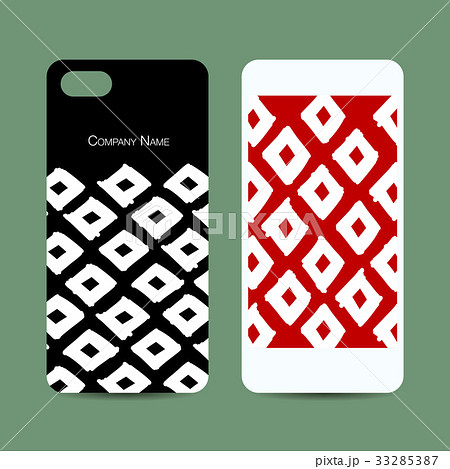 Mobile phone design, geometric fabric patternのイラスト素材 [33285387] - PIXTA