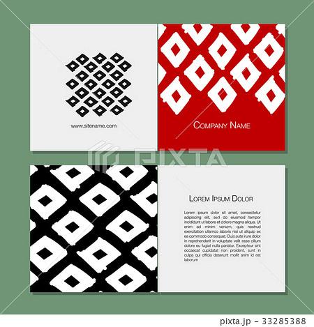 Greeting cards design, geometric fabric patternのイラスト素材 [33285388] - PIXTA