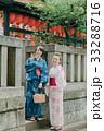 浴衣の若い女性 神社 33288716
