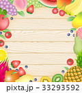 果物 フルーツ カードのイラスト 33293592
