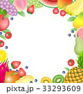果物 フルーツ カードのイラスト 33293609