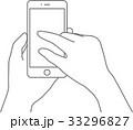 スマホ スマートフォン 操作のイラスト 33296827