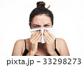 woman cover her face with tissue 33298273