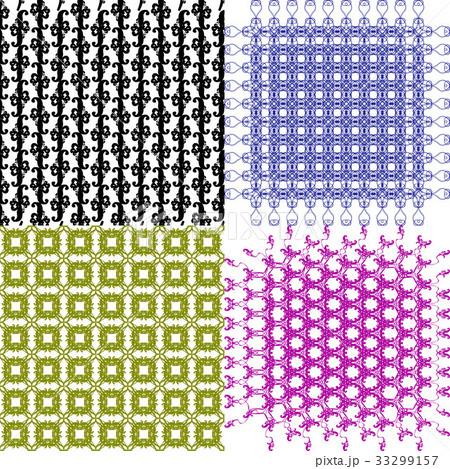 Set of  geometric pattern in op art design. Vectorのイラスト素材 [33299157] - PIXTA